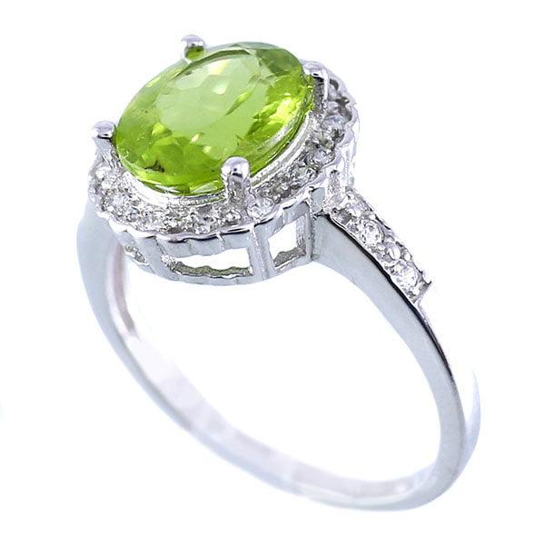 انگشتر نقره زبرجد زنانه مدل تینا _ کد : ۱۰۰۰۱۸