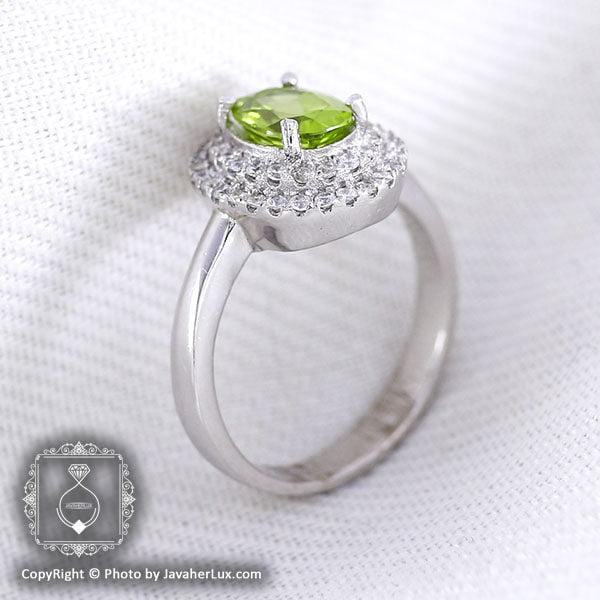 انگشتر نقره زبرجد زنانه مدل نیکا _ کد : ۱۰۰۰۲۰