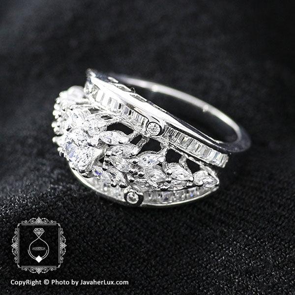 انگشتر نقره زنانه طرح سولیتر مدل سالسا _ کد : 100035