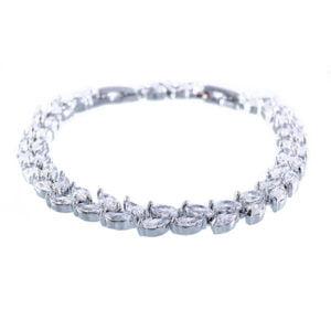 دستبند زنانه نگین دار مدل وندا _ کد : ۲۰۰۰۳۰