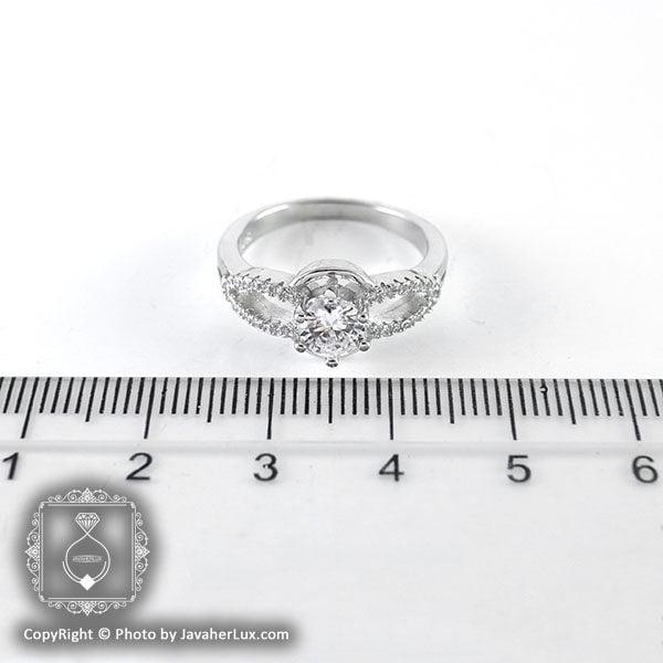 انگشتر نقره زنانه سولیتر مدل روژا _ کد : 100100