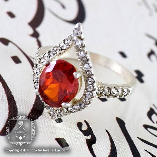 انگشتر نقره زنانه سنتاتیک مدل هنار _ کد : 100101