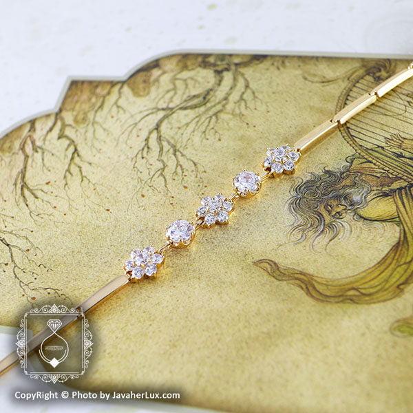 دستبند زنانه نگین سوئیسی مدل الیزه _ کد : 200054