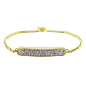 دستبند زنانه نگین دار مدل آریز _ کد : 200065