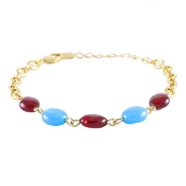 دستبند زنانه نگین سنتاتیک مدل لیان _ کد : 200071
