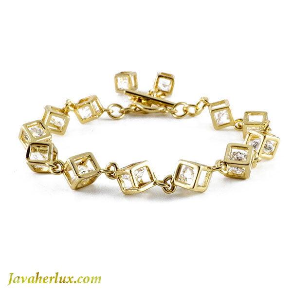 دستبند زنانه مکعبی مدل وانیا _ کد : 200081