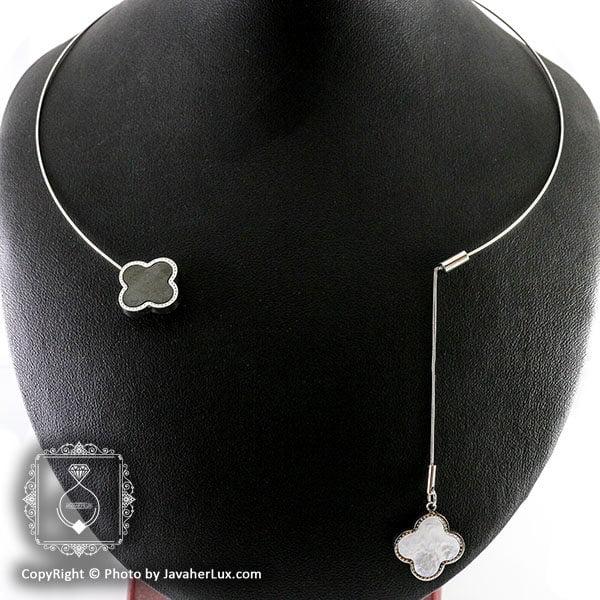گردنبند طوق زنانه ونکلیف مدل سالویا _ کد : 200091