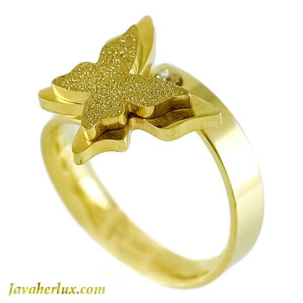 انگشتر زنانه طرح پروانه مدل بارلی _ کد : 200113