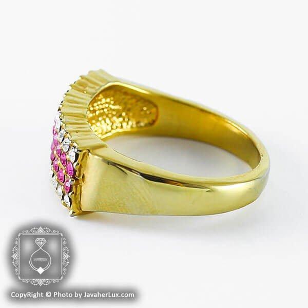 انگشتر زنانه نگین اتمی مدل آوینا _ کد : 200122