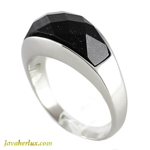 انگشتر مردانه طرح عقیق سیاه مدل لهاک _ کد : 200110