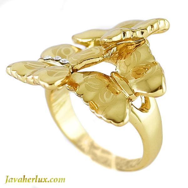 انگشتر زنانه طرح پروانه _ کد : 200115
