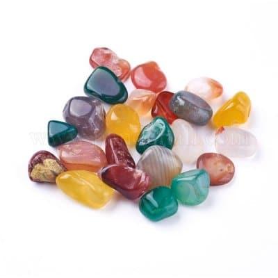 سنگ عقیق تغییر رنگ داده شده یا اصطلاحا رنگ شده در انواع رنگ ها