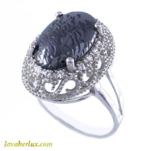 انگشتر نقره زنانه حدید صینی مدل نارملا _ کد : 100015
