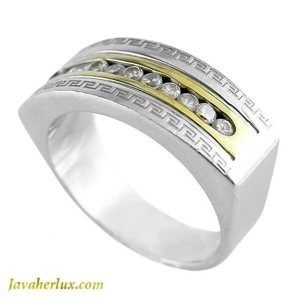 انگشتر مردانه نگین اتمی مدل وانان _ کد : 200146