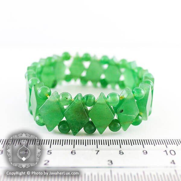 دستبند سنگ آونتورین سبز _ کد : 400028