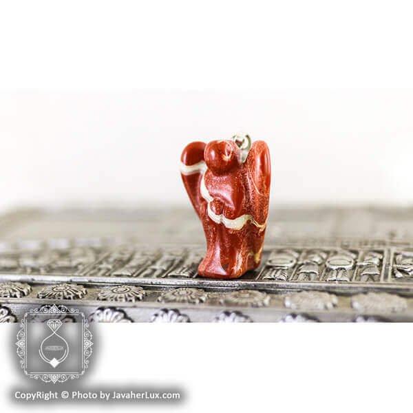 آویز سنگ جاسپر مدل فرشته _ کد : 400051