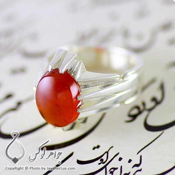 انگشتر نقره مردانه عقیق یمنی مدل نیال _ کد : 100114