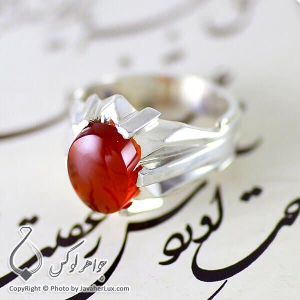 انگشتر نقره مردانه عقیق یمنی مدل نیام _ کد : 100115