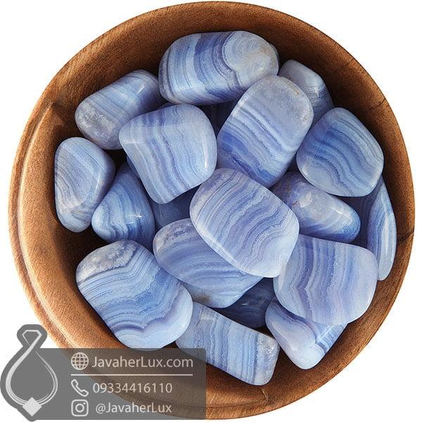 عقیق آبی نواری Blue Lace Agate