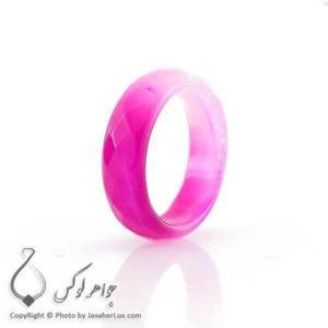 حلقه ساده عقیق سلیمانی صورتی _ کد : 400070