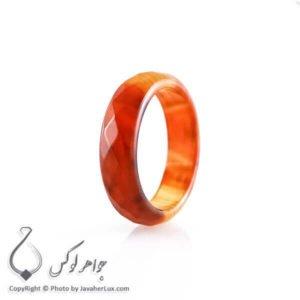 حلقه ساده عقیق سلیمانی قرمز _ کد : 400072