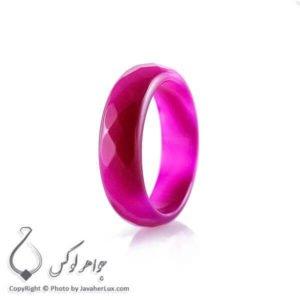 حلقه ساده عقیق سلیمانی مدل آچا _ کد : 400073