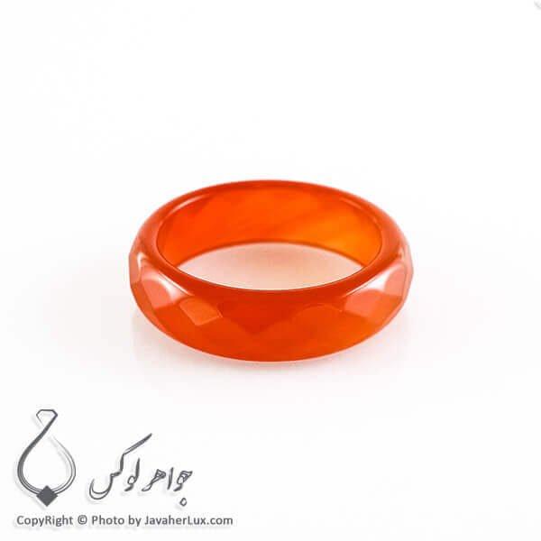 حلقه ساده عقیق سلیمانی مدل آنا _ کد : 400074