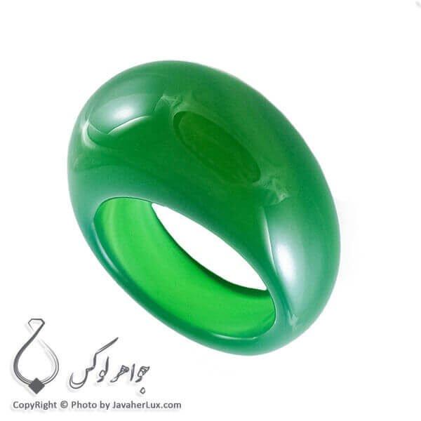 انگشتر سنگ عقیق سبز _ کد : 400081
