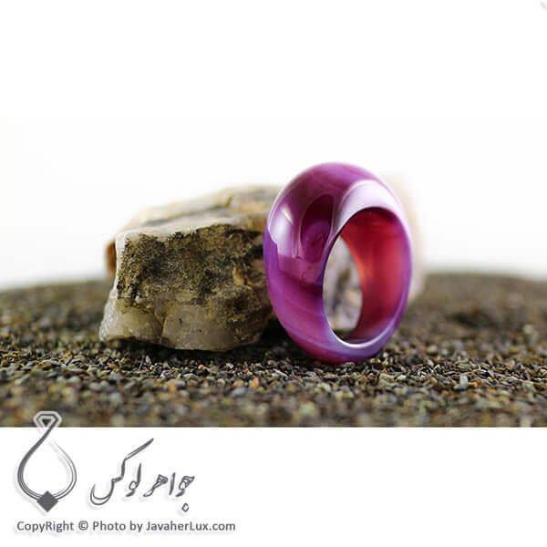 انگشتر سنگ عقیق سلیمانی _ کد : 400082