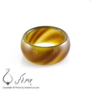 حلقه سنگ عقیق سلیمانی مدل شنم _ کد : 400091