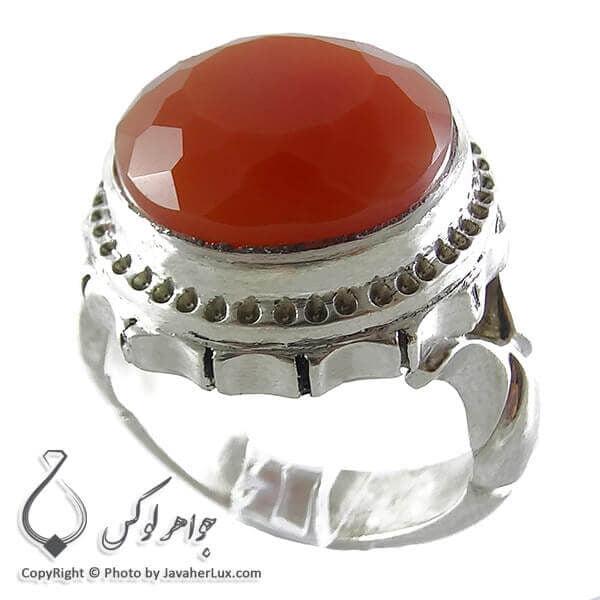 انگشتر نقره عقیق یمنی _ کد : 100125