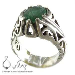 انگشتر نقره مردانه زمرد _ کد : 100126