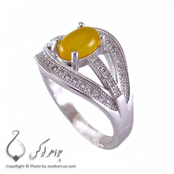 انگشتر نقره زنانه شرف الشمس مدل اصیلا _ کد : 100196
