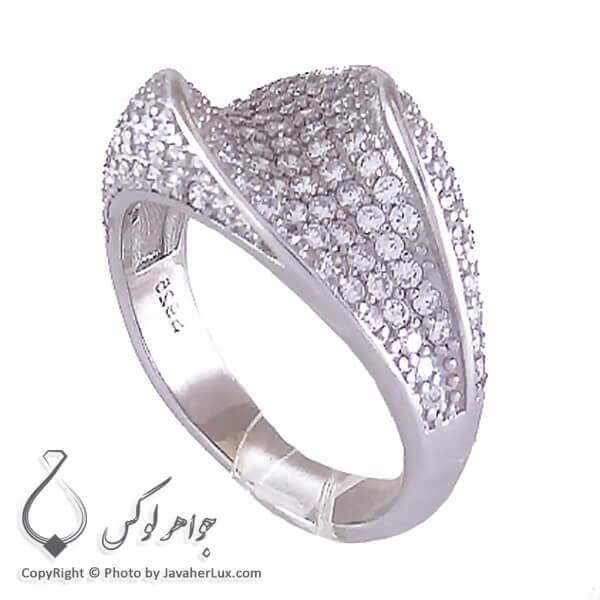 انگشتر نقره زنانه میکرو مدل ماهتیسا _ کد : 100189