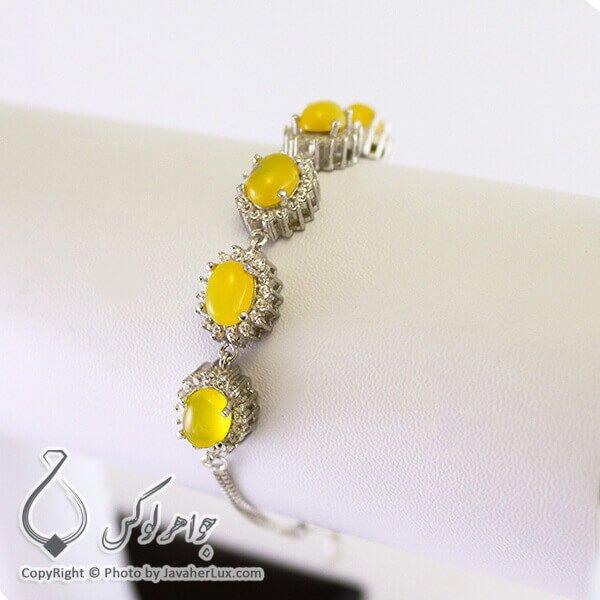 دستبند نقره زنانه شرف الشمس _ کد : 100206