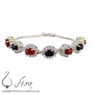 دستبند نقره زنانه عقیق _ کد : 100242