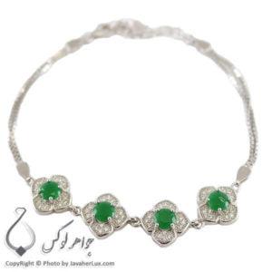 دستبند نقره زنانه نگین سوارسکی مدل تهانی _ کد : 100246