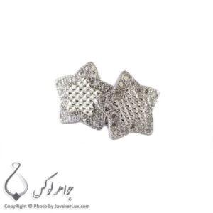 گوشواره نقره زنانه مدل ستاره _ کد : 100251