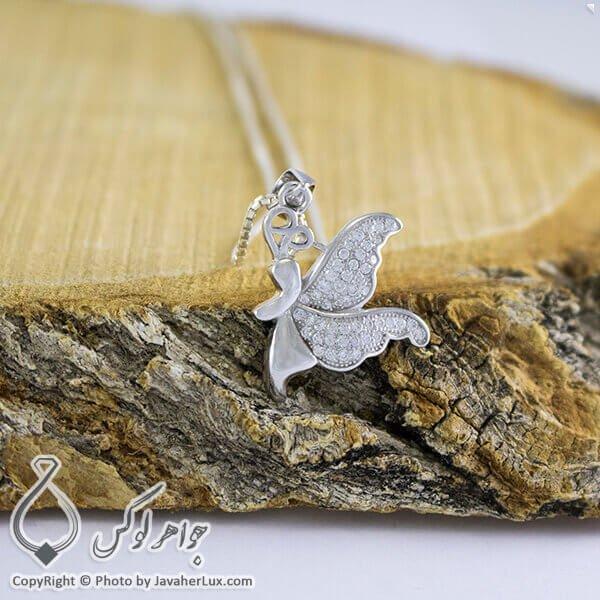 گردنبند نقره زنانه میکروستینگ مدل پروانه _ کد : 100267