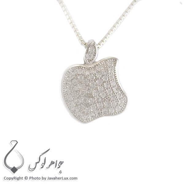 گردنبند نقره زنانه میکروستینگ مدل اپل _ کد : 100269