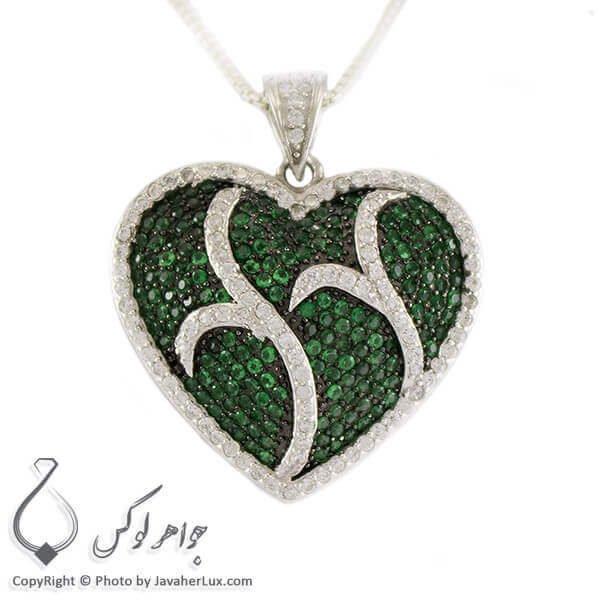 گردنبند نقره زنانه سوارسکی مدل قلب _ کد : 100271