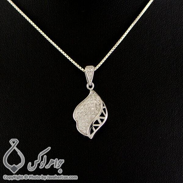گردنبند نقره زنانه میکروستینگ مدل الرا _ کد : 100277