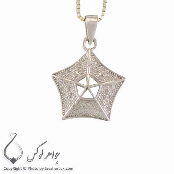گردنبند نقره زنانه میکروستینگ مدل ستاره _ کد : 100279