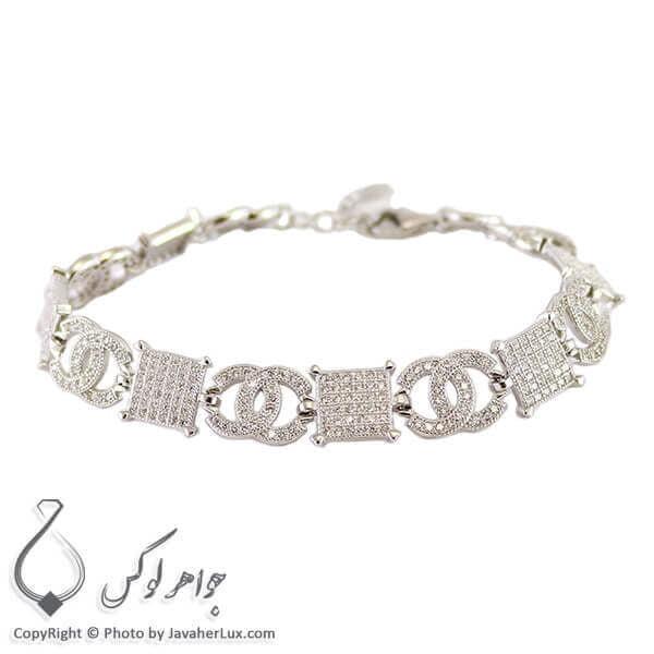 دستبند نقره زنانه چنل _ کد : 100241