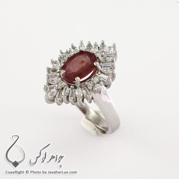 انگشتر نقره زنانه یاقوت سرخ مدل هوپاد _ کد : 100318
