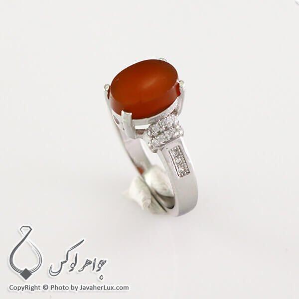 انگشتر نقره زنانه عقیق یمنی مدل سبا _ کد : 100319