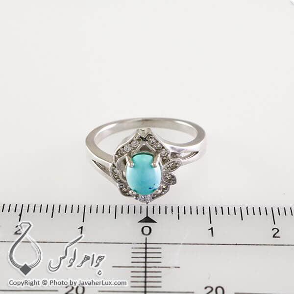 انگشتر نقره زنانه فیروزه نیشابوری مدل آنگوس _ کد : 100320
