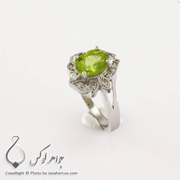 انگشتر نقره زنانه زبرجد مدل سوفی _ کد : 100235