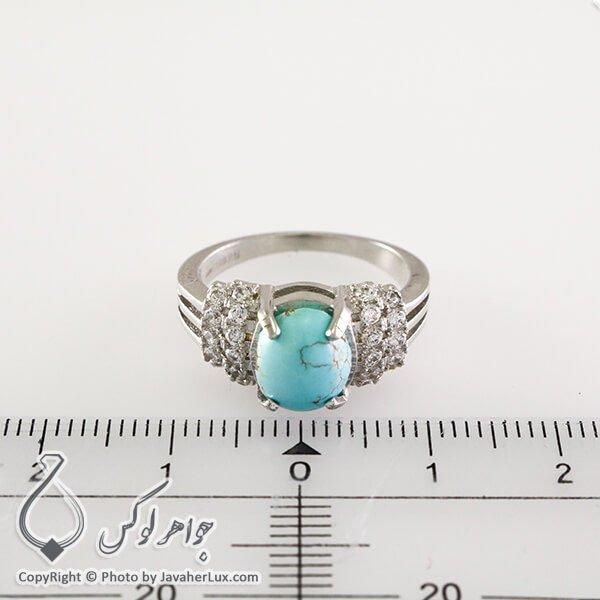 انگشتر نقره زنانه فیروزه نیشابوری مدل میکسا _ کد : 100331