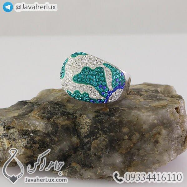 انگشتر نقره زنانه نگین سوارسکی _ کد : 100338
